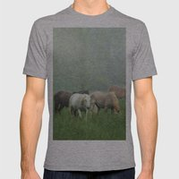 Out In The Rain Mens Fitted Tee Athletic Grey SMALL