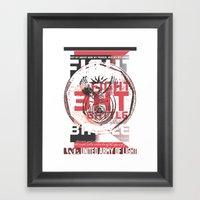FIGHT THE BATTLE Framed Art Print