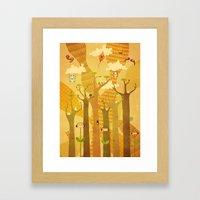 Musical Trees Framed Art Print