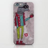 iPhone & iPod Case featuring 006_raccoon by teddyBOY