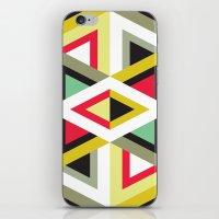 Stripy Triangle Pattern iPhone & iPod Skin