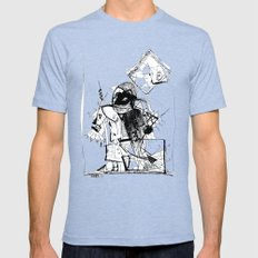 Gonzo Mens Fitted Tee Tri-Blue SMALL