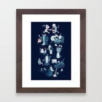 A Shared Flat For Wizard… Framed Art Print
