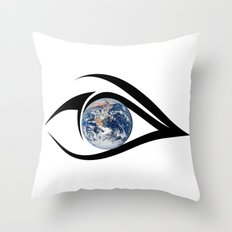 The planet on which we live can see everything Throw Pillow