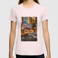 New York - Van Wagner Womens Fitted Tee Light Pink SMALL