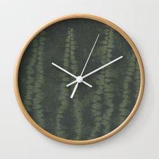 Shibori Ferns Wall Clock