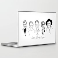 one direction Laptop & iPad Skins featuring One Direction by ☿ cactei ☿