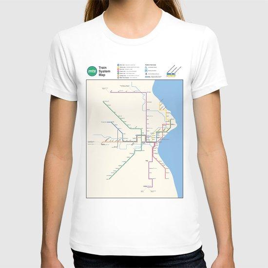 Milwaukee Transit System Map T-shirt