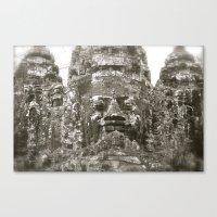 Angkor Wat Historical Park Gates Canvas Print