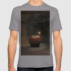 Apple bomb Mens Fitted Tee Athletic Grey SMALL