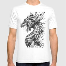Dragon's Outrage Mens Fitted Tee White SMALL