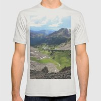 Willow Lakes Mens Fitted Tee Silver SMALL