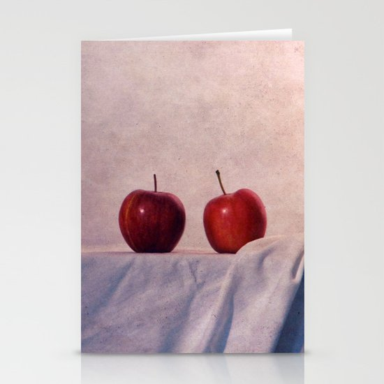 two apples Stationery Card