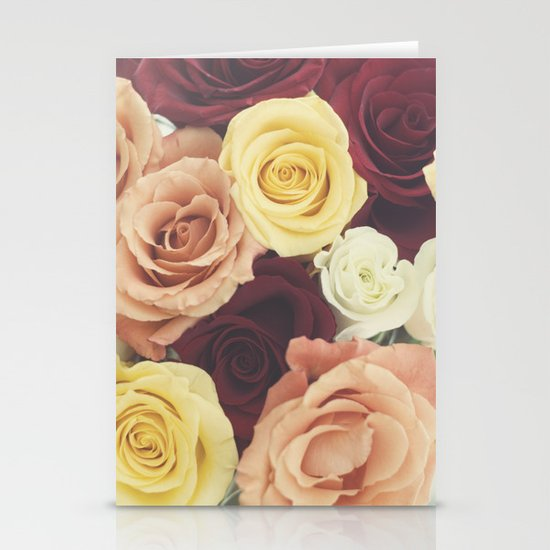 Vintage Roses II Stationery Card