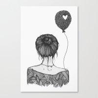 Girl With a Balloon Canvas Print