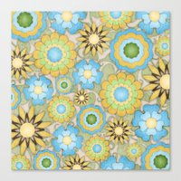 English Country Floral Canvas Print