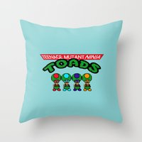 Teenage Mutant Ninja Toa… Throw Pillow