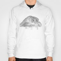 A Green Sea Turtle :: Grayscale Hoody
