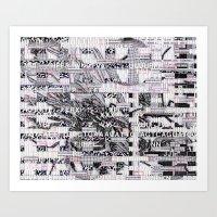 Surrender Your Information (P/D3 Glitch Collage Studies) Art Print