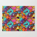 More Monsters, More Patterns Canvas Print