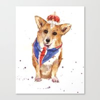 JUBILEE Corgi Print - 8x10 inches Canvas Print