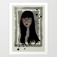 Never met a Hipster that really needs glasses Art Print