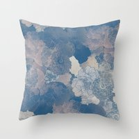 Airforce Blue Floral Hue… Throw Pillow