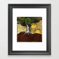 Sunrise Tree Framed Art Print