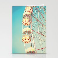 Honey Bunny, Ferris Wheel on Blue Sky Stationery Cards