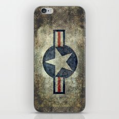 Roundel of the USAF vintage retro style version #2 iPhone & iPod Skin