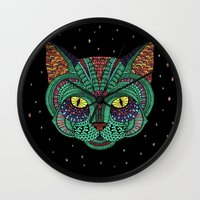 Intergalactic Cat Wall Clock
