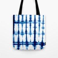 Indigo Dyed Stripe Tote Bag