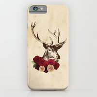 iPhone & iPod Case featuring Stag, deer, flowers, vintage, roses, rustic by Vintage Loves Roses