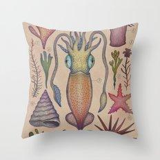 Aequoreus vita III / Marine life III Throw Pillow