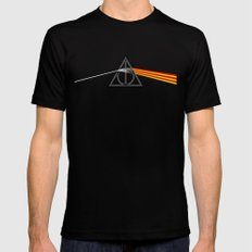 the darkside of the deathly hallows Black Mens Fitted Tee SMALL