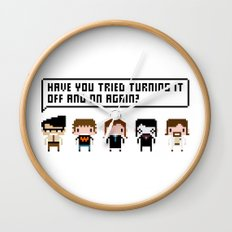 The IT Crowd Characters Wall Clock