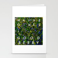 Maine Gives Good Berry Stationery Cards