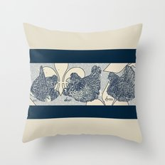 3 French Hens - 12 Days of Christmas Series Throw Pillow