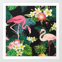 Flamingo Dance Art Print