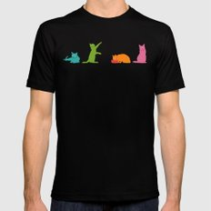 Cats Multicolor Mens Fitted Tee Black SMALL