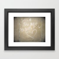 Smile, You Are Beautiful… Framed Art Print