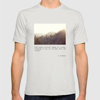 Over Every Mountain Mens Fitted Tee Silver SMALL