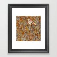 Hair Drowning  Framed Art Print