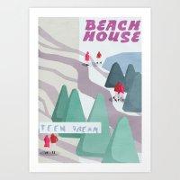 Beach House Art Print