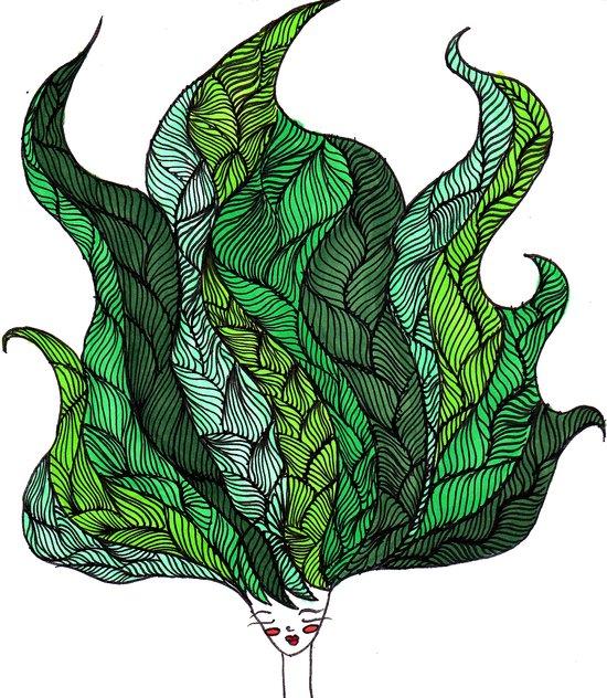 Leaf Head I Canvas Print