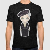 Violet Crawley, Dowager Countess of Grantham Mens Fitted Tee Tri-Black SMALL