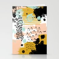 Stationery Cards featuring Ames - Abstract Painting… by CharlotteWinter
