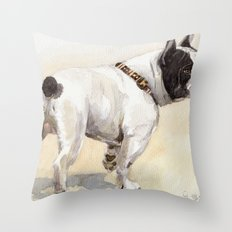 French Bulldog A050 Throw Pillow