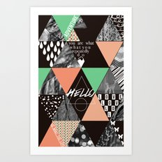 GEOMETRIC - you are what you repeatedly do Art Print