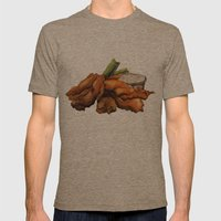 Buffalo Chicken Mens Fitted Tee Tri-Coffee SMALL
